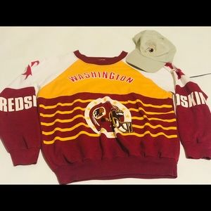 Redskins Crewneck Team official T shirt /Cap